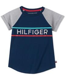 463fa560 Tommy Hilfiger Big Girls Holographic Logo Cotton T-Shirt