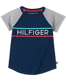 Tommy Hilfiger Big Girls Holographic Logo Cotton T-Shirt