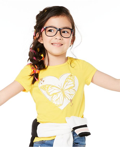 Epic Threads Little Girls Butterfly Heart T-Shirt, Created for Macy's