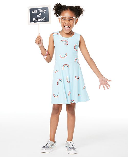 Epic Threads Toddler Girls Rainbow-Print Criss-Cross Dress, Created for Macy's