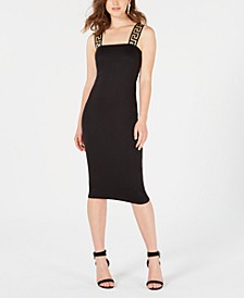 Juniors' Greek-Key Midi Bodycon Dress