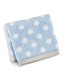 "13"" x 13"" Cotton Dot Spa Fashion Wash Towel, Created for Macy's"
