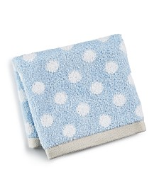 Martha Stewart Collection Cotton Dot Spa Fashion Wash Towel, Created for Macy's