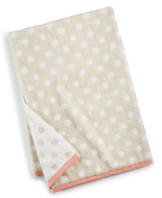 Cotton Dot Spa Fashion Bath Towel, Created for Macy's