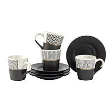 Espresso Cup & Saucer, Set of 4