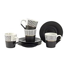 CLOSEOUT! Espresso Cup & Saucer, Set of 4