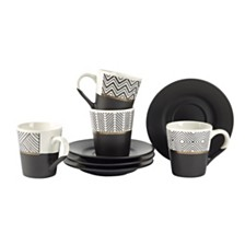 Tabletops Unlimited Espresso Cup & Saucer, Set of 4