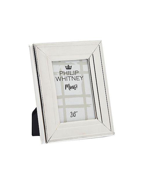 Philip Whitney Plain Silver Beaded Frame - 2x3