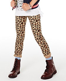 Big Girls Leopard-Print Skinny Jeans, Created for Macy's