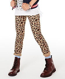Epic Threads Big Girls Leopard-Print Skinny Jeans, Created for Macy's