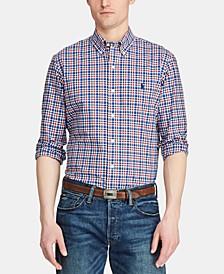 Men's Big & Tall Classic Fit Plaid Cotton Shirt