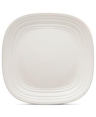 Dinnerware Swirl Square White Dinner Plate  sc 1 st  Macyu0027s & Mikasa Dinnerware Swirl Square White Collection - Dinnerware ...