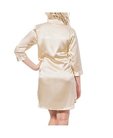 Cathy's Concepts Team Bride Gold Satin Night Shirt