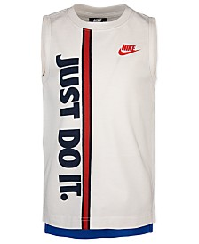 Nike Toddler Boys Just Do It Colorblocked Sleeveless T-Shirt