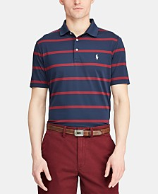 Polo Ralph Lauren Men's Big & Tall Classic Fit Striped Performance Polo