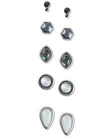 Silver-Tone 5-Pc. Set Geometric Stud Earrings