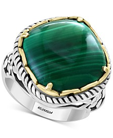 EFFY® Malachite Statement Ring in Sterling Silver & 18k Gold-Plate