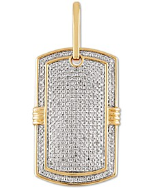Diamond Dog Tag Pendant (1 ct. t.w.) in 10k Gold