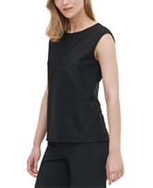 Calvin Klein Textured-Stripe Top