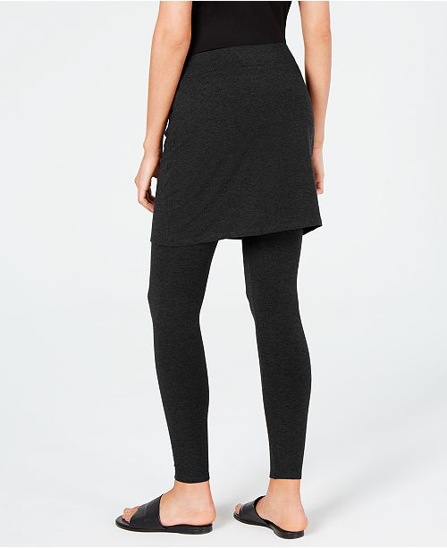 a57f29940f1dfe Eileen Fisher Stretch Jersey Knit Skirted Leggings, Regular & Petite,  Created for Macy's ...