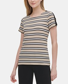 Calvin Klein Striped Hardware T-Shirt