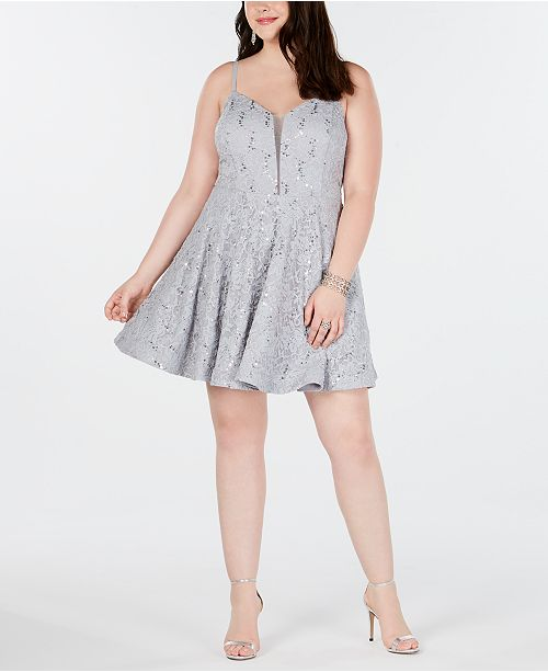 Speechless Trendy Plus Size Embellished Lace Fit & Flare Dress
