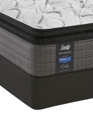 """Posturepedic Lawson LTD 13.5"""" Cushion Firm Euro Pillow Top Mattress Set- Twin"""