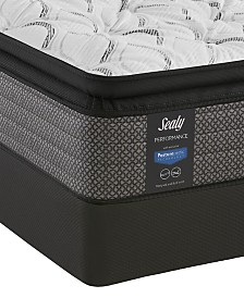 "Sealy Posturepedic Lawson LTD 13.5"" Plush Euro Pillow Top Mattress Set- Queen Split"
