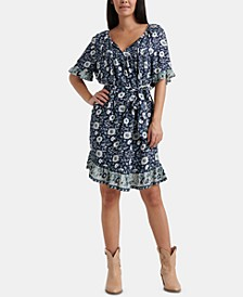 Nora Floral-Print Ruffled Dress