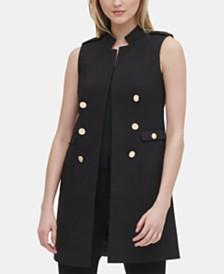 Calvin Klein Button-Detail Open-Front Vest