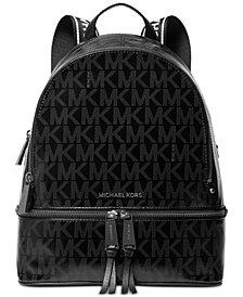 MICHAEL Michael Kors Signature Rhea Glossy Backpack