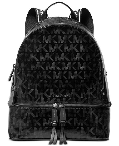 Michael Kors Signature Rhea Glossy Backpack