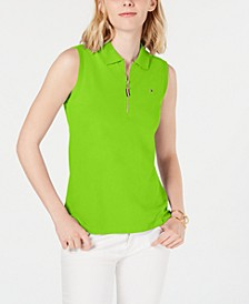 Sleeveless Zip Polo, Created for Macy's