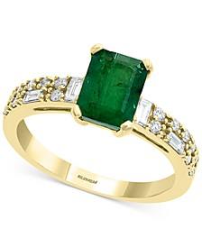 EFFY® Emerald (1-3/8 ct. t.w.) & Diamond (1/3 ct. t.w.) Statement Ring in 14k Gold