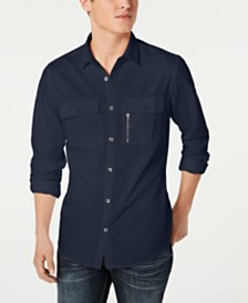I.N.C. Men's Regular-Fit Pocket Shirt, Created for Macy's