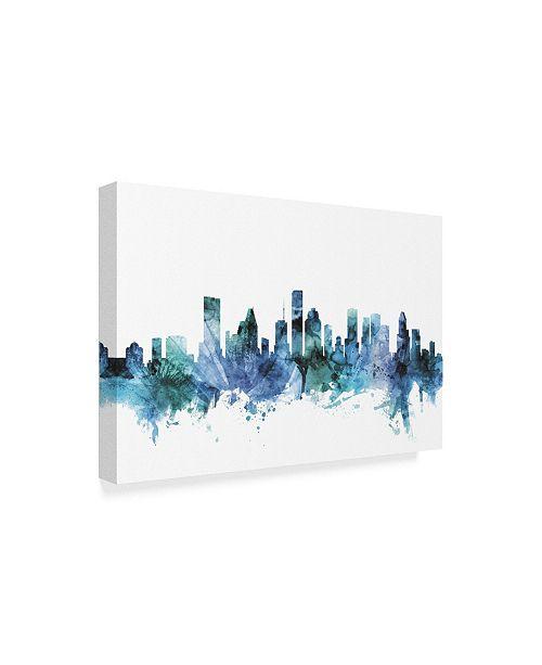 Home Decor Stores Houston Tx: Trademark Global Michael Tompsett 'Houston Texas Blue Teal