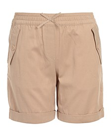 Little Girls Pull-On Cuffed Shorts