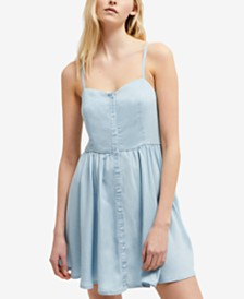 French Connection Button-Front Dress