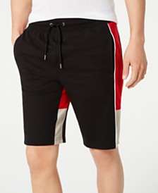 I.N.C. Men's Swellers Regular-Fit Pieced Colorblocked Sweatshorts, Created for Macy's