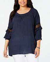 1b91938b1a407a Plus Size Tops - Womens Plus Size Blouses & Shirts - Macy's