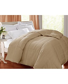 400 Thread Count Damask White Goose Feather/ Down Comforter, Full/Queen