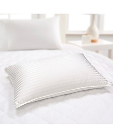 500 Thread Count Silk/ Cotton White Down Bed Pillow, Jumbo