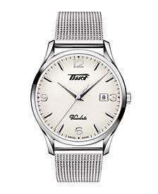 Men's Heritage Visodate Heritage Stainless Steel Mesh Bracelet Watch 40mm