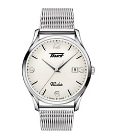 Tissot Men's Heritage Visodate Heritage Stainless Steel Mesh Bracelet Watch 40mm