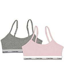 Little & Big Girls 2-Pc. Adjustable Cropped Bras