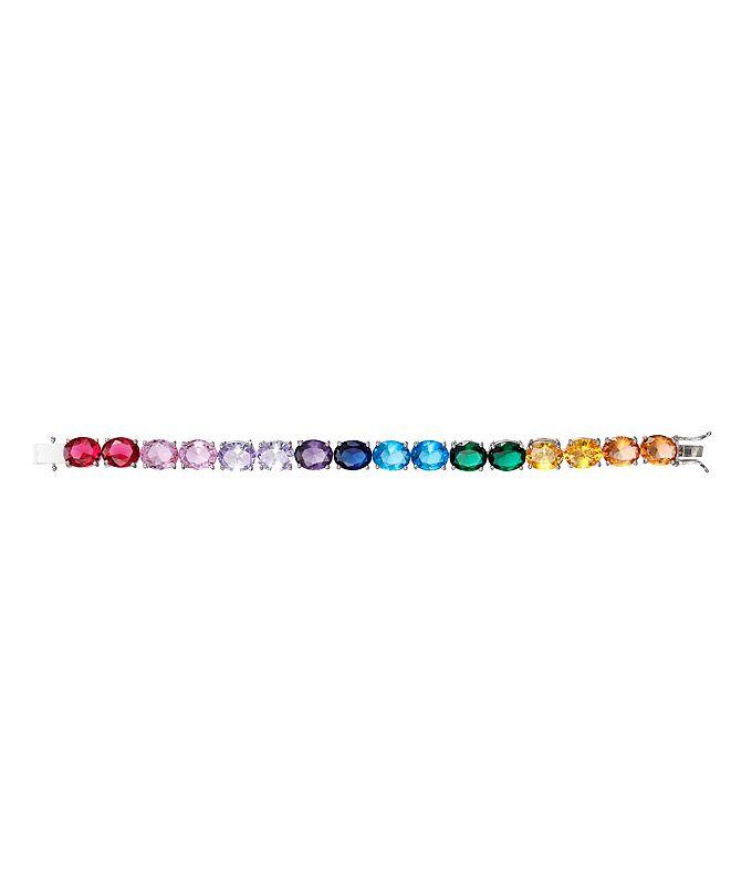 Nina Rainbow Cubic Zirconia Link Bracelet