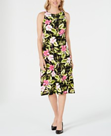 Kasper Hibiscus Dress