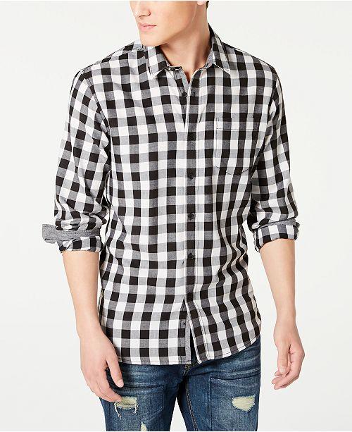 American Rag Men's Banarama Regular-Fit Check Shirt, Created for Macy's