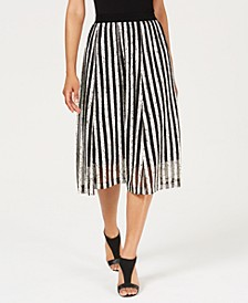 Textured Striped A-Line Skirt, Created For Macy's