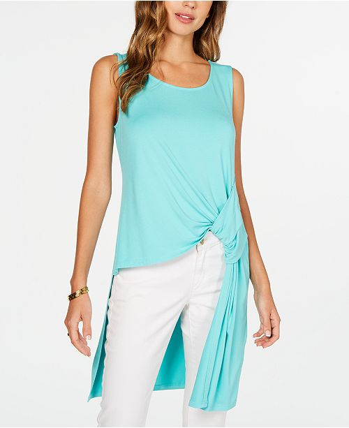 Alfani Knot-Detail High-Low Tunic, Created for Macy's